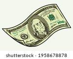 falling one hundred us dollar... | Shutterstock .eps vector #1958678878