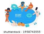 beach resort activities  modern ...   Shutterstock .eps vector #1958743555