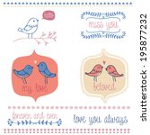 set of graphic elements with ... | Shutterstock .eps vector #195877232