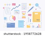 tax asset business icon... | Shutterstock .eps vector #1958772628