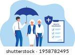 insurance agent holding... | Shutterstock .eps vector #1958782495
