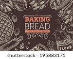 baking bread | Shutterstock .eps vector #195883175