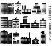 collection of vector building... | Shutterstock .eps vector #19588531