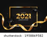 graduation class of 2021 with...   Shutterstock .eps vector #1958869582