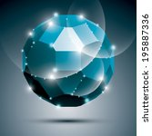Dimensional Blue Sparkling...