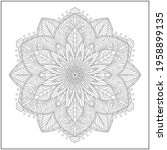 mandala circle pattern....   Shutterstock .eps vector #1958899135