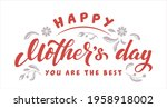 happy mother's day lettering...   Shutterstock .eps vector #1958918002
