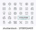 utilities icon set. vector...   Shutterstock .eps vector #1958926405