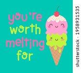 cute ice cream cone cartoon... | Shutterstock .eps vector #1958931535