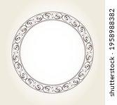 elegant round floral frame for...   Shutterstock .eps vector #1958988382