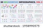 neumorphic vector infographics. ...