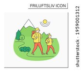 friluftsliv color icon. family... | Shutterstock .eps vector #1959001312
