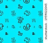 baby toys cute pattern design...   Shutterstock . vector #1959022045