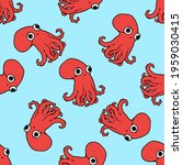 vector seamless pattern of red... | Shutterstock .eps vector #1959030415