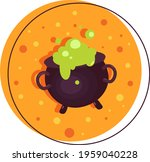 color illustration of a witch's ... | Shutterstock .eps vector #1959040228
