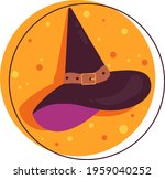 color illustration of a witch... | Shutterstock .eps vector #1959040252