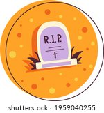 color illustration of a grave.... | Shutterstock .eps vector #1959040255