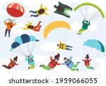 people are engaged in extreme... | Shutterstock .eps vector #1959066055
