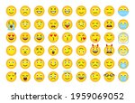 funny cartoon emoji of yellow...   Shutterstock .eps vector #1959069052