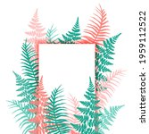 fern frond tropical leaves... | Shutterstock .eps vector #1959112522