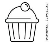 tasty cupcake icon. outline... | Shutterstock .eps vector #1959116158