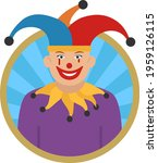 circus clown concept  jester or ... | Shutterstock .eps vector #1959126115