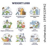 weight loss with healthy diet...   Shutterstock .eps vector #1959133942