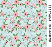 abstract seamless pattern with... | Shutterstock .eps vector #195913955