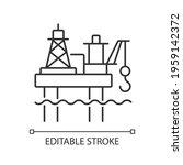 offshore oil platform linear... | Shutterstock .eps vector #1959142372