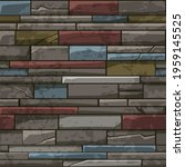 seamless pattern stone brick...