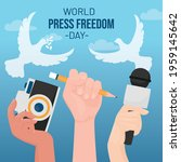 world press freedom day with... | Shutterstock .eps vector #1959145642