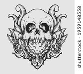 tattoo and t shirt design black ... | Shutterstock .eps vector #1959148558