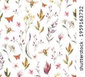 watercolor vintage floral...   Shutterstock . vector #1959163732