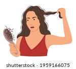 the girl is afraid that her... | Shutterstock .eps vector #1959166075