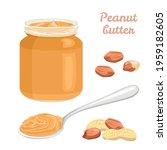 peanut butter set. vector...   Shutterstock .eps vector #1959182605