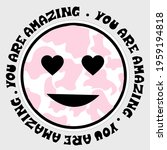 round you are amazing...   Shutterstock .eps vector #1959194818