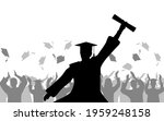 cheerful boy graduates with... | Shutterstock .eps vector #1959248158