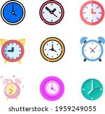 different styles clock icons in ...   Shutterstock .eps vector #1959249055