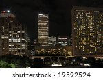 Night Skyline in Toronto - stock photo