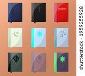Holy Books Vector Set  Judaism  ...