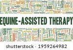 Equine Assisted Therapy Vector...