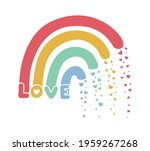 rainbow vector illustration for ...   Shutterstock .eps vector #1959267268