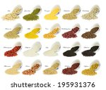 collection of 20 different... | Shutterstock . vector #195931376