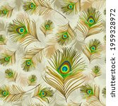 peacock feather. seamless...   Shutterstock .eps vector #1959328972