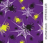 black and yellow spiders and... | Shutterstock .eps vector #1959331135