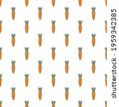 seamless pattern with carrots....   Shutterstock .eps vector #1959342385