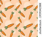 seamless pattern with carrots....   Shutterstock .eps vector #1959342388