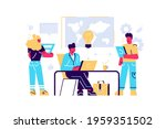 company personnel training ...   Shutterstock .eps vector #1959351502