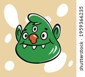 trendy doodle with green funny... | Shutterstock .eps vector #1959366235