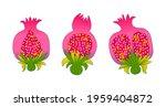 pomegranate on a white... | Shutterstock .eps vector #1959404872